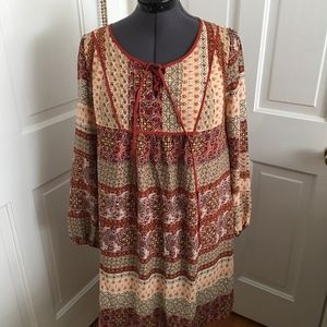 Mystree boho pattern dress tunic size M NWT